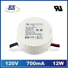 12W 700mA Constant Current LED driver with Triac dimmer (120VAC)
