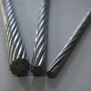 High tensile strength galvanized 12.7mm wire gauge pc steel strand wire for prestressed concrete