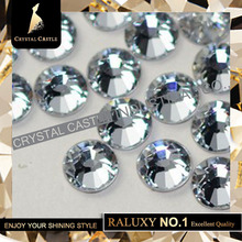 SS16 glass crystal clear white strass crystal hotfix