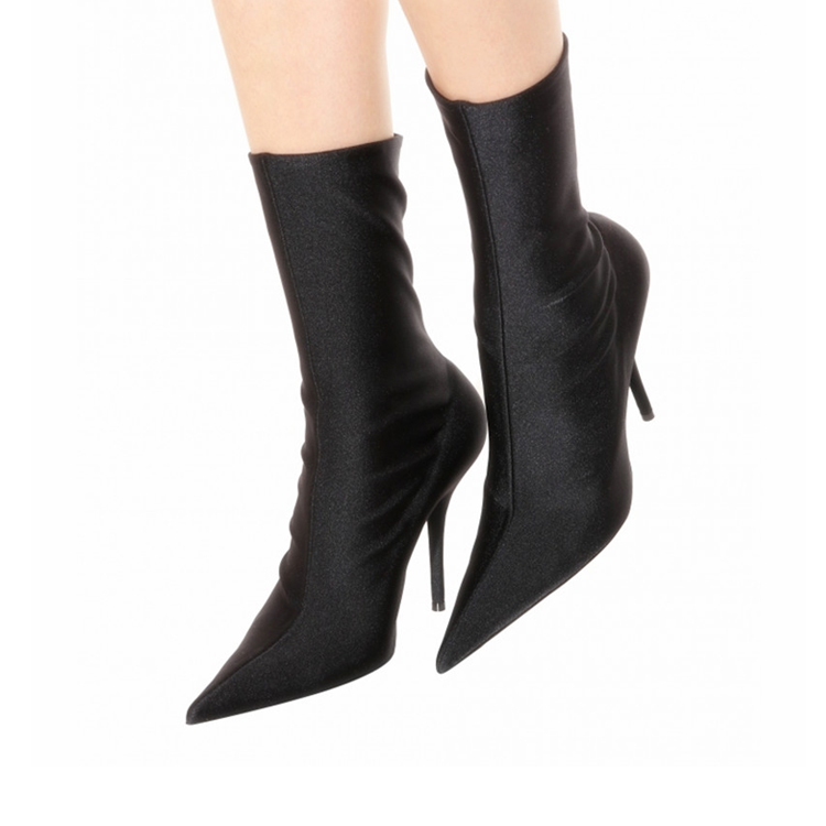 High quality pointed shoes sexy ladies thin-high heel women boots leather