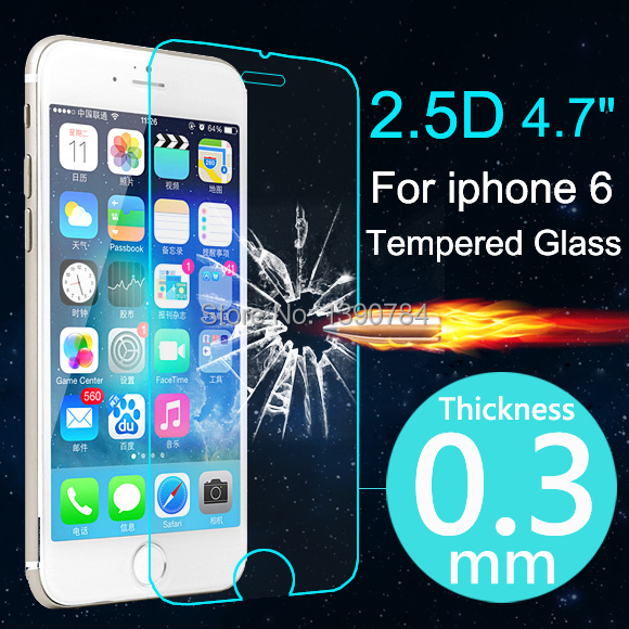 Top Quality 0 3mm Ultrathin Premium Tempered Glass Screen Protector For iphone 6 6s Plus Protective