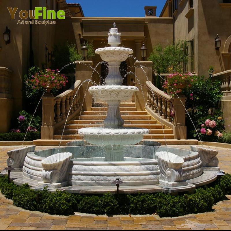 Moroccan Garden White Marble Fountain For Sale Buy Fountain