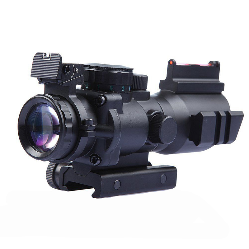 Tactical Rifle Scope 4x32 Red Green Dot Military airsoft RifleScopes hunting scope Optical, Black