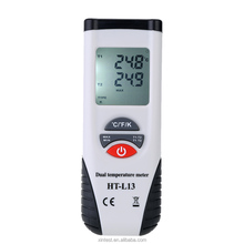 LCD Digital Thermometer Temperature Meter dual channel K-Type Thermocouple Probes Measuring -200-1372 Degree