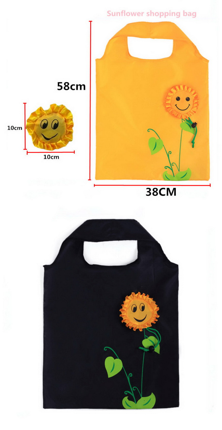 Foldable rose flower Reusable Shopping Bag Folding Shopping Bag