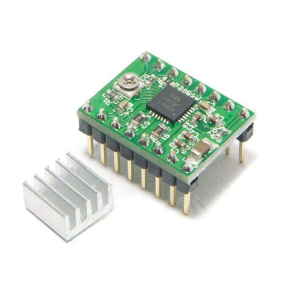 3D PRINTER CONT.,RAMPS 1.4 REPRAP,MENDEL,PRUSA +5,A4988 DRIVERS//HT-SINK COMP