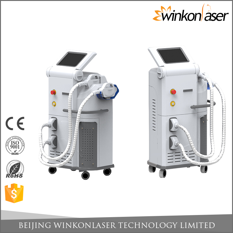 CE FDA approved 2000W high energy e-light hair removal ipl rf laser device with crystal optical system