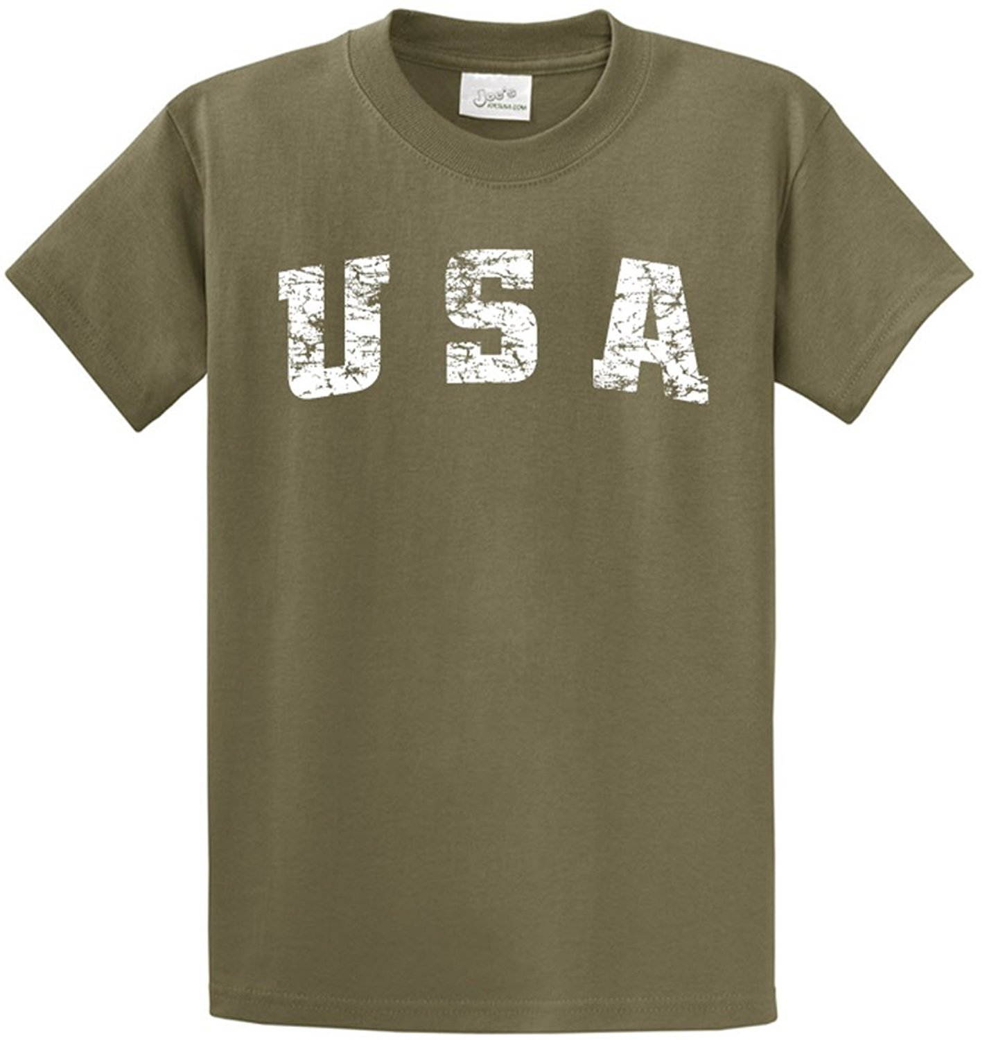 b4b7ef61ba1 Get Quotations · Joe s USA tm -Tall Vintage USA Logo Tee T-Shirts in Size  4X-