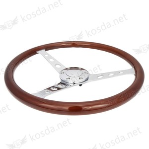 alibaba china 380mm classic used car parts aftermarket 6 hole 15 inch wood steering wheel for sale