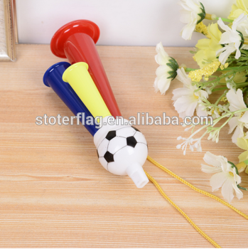 high quality plastic cheering horn , toy plastic football fans cheer trumpet