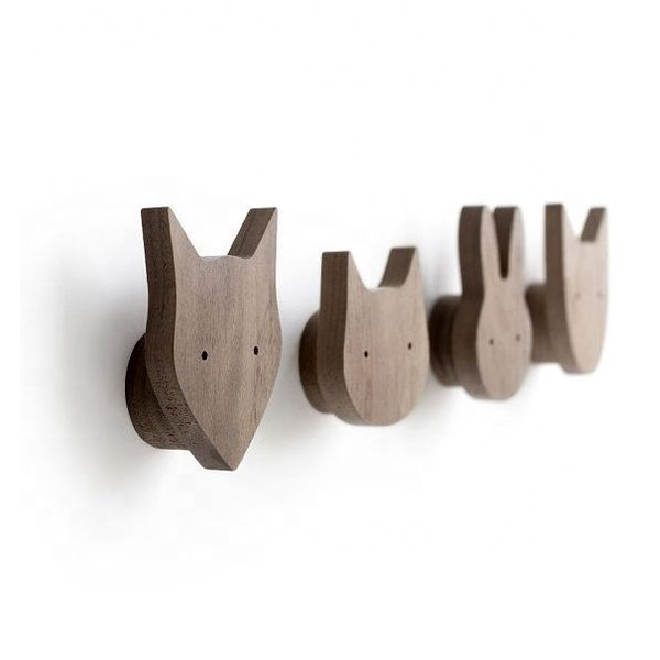 Custom wholesale rustic wood coat rack Wooden Entryway Coat Hooks