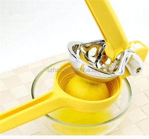 Low Price Manual Stainless Steel Lemon Squeezer with Silicone Handles