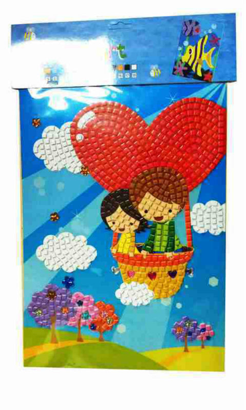 A3 Educational puzzle mosaic with kids toy