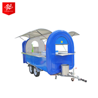 Mobile kitchen snack food cart, hot dog burger trailers, best mobile coffee trailer Russian
