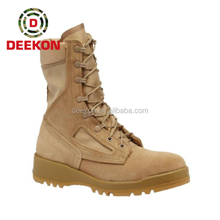 Rubber Outsole Tactical Combat Military Boot For Army Jungle Use