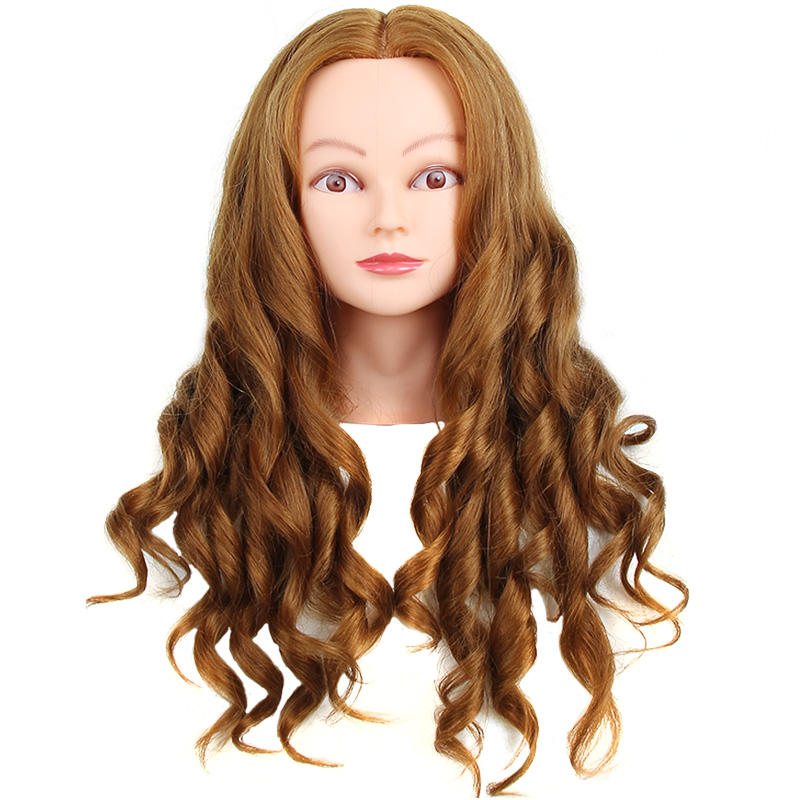 Barber Styling Training Human Hair Female Mannequin Head