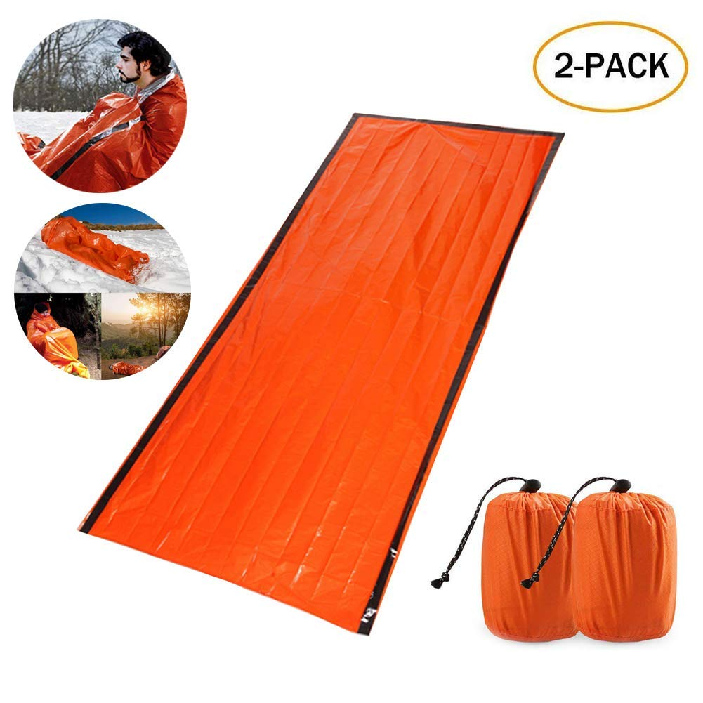 Sports & Entertainment Emergency Survival Sleeping Bag Easy Heat Insulation Compact Outdoor First Aid Gear Waterproof Bivy Sack For Camping Hiking Ba Sleeping Bags