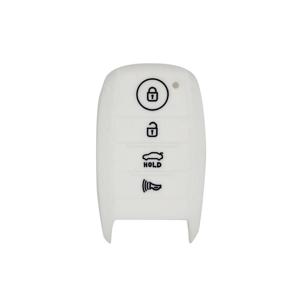 Wholesale factory selling customize 3 button silicone car key case for kias