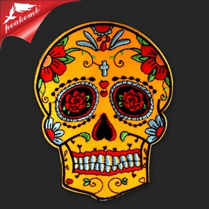 Embroidery Factory Supplier New Design Skull Patch For Clothing