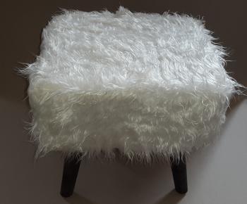 Uk Market Round Modern Fur Stool Woven Pouf Ottoman With Best Price