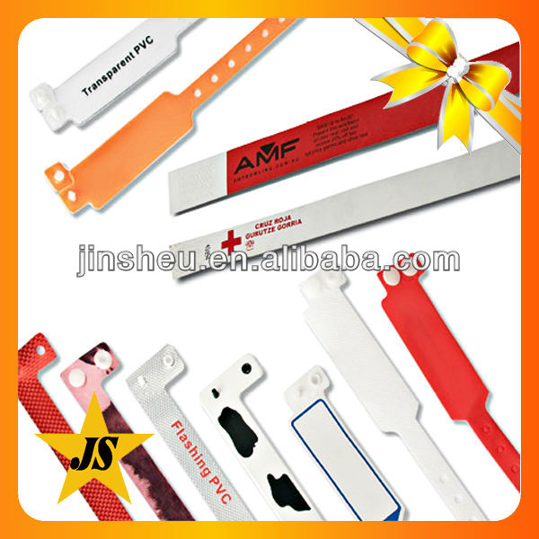 Custom promotional cheap disposable hospital patient id bands