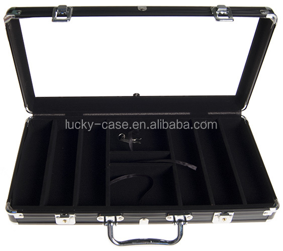Case Aluminium 300 Chips Transparante Cover Poker Chip Case Lege Aktetas