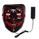 2018 Glow In Dark Plastic Halloween Neon Mask LED Light Up Purge Mask For Cosplay