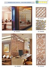 Custom Made Decorative Laser Cut Metal Screen As Room Divided Screen