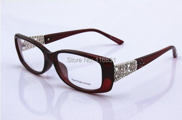 9610b5507d8 2019 Wholesale 2015 Rhinestone Glasses Cd3184 Myopia Eyeglasses ...