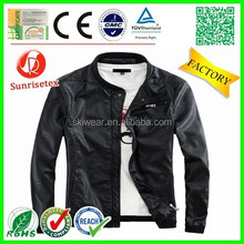 New style Popular no collar leather jacket Factory