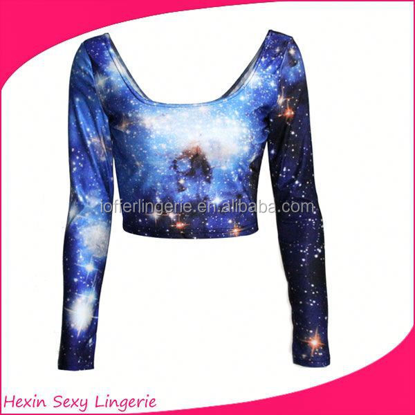 Comercio al por mayor galaxy tie dye crop top y falda set