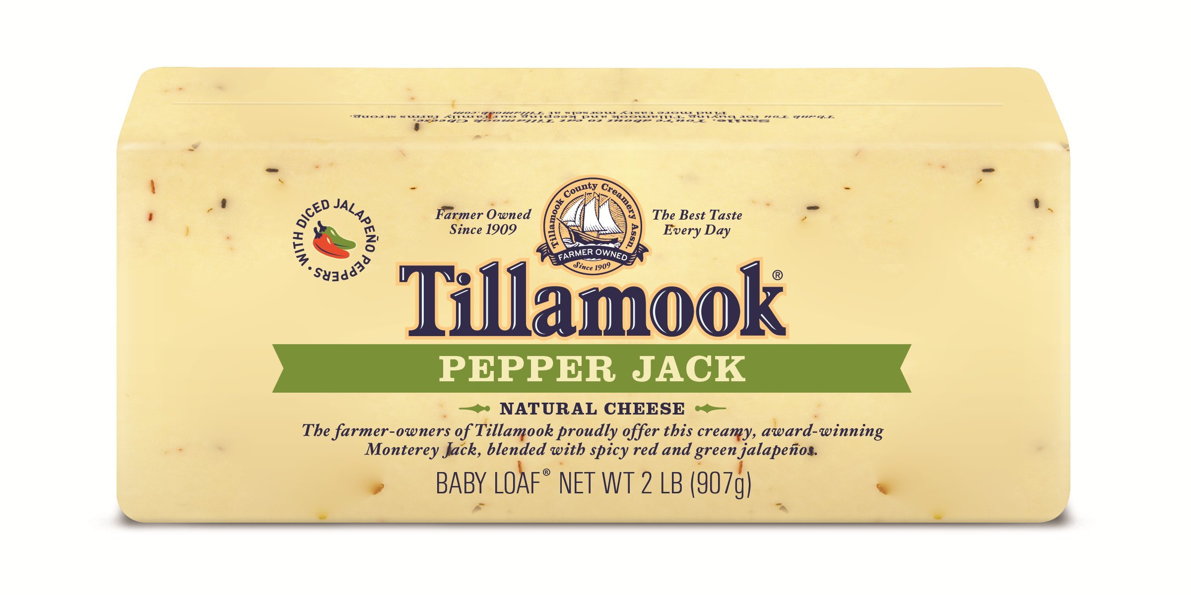 Tillamook, Pepper Jack Cheese, Baby Loaf, 2 lb