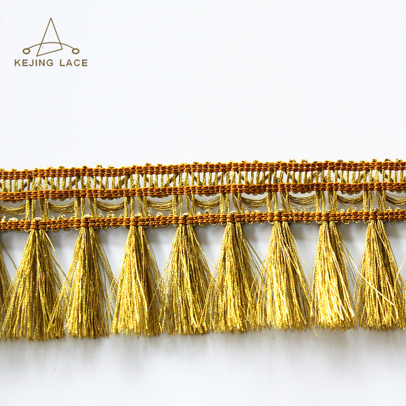 bullion metallic fringe trim loop fringe trim for clothes