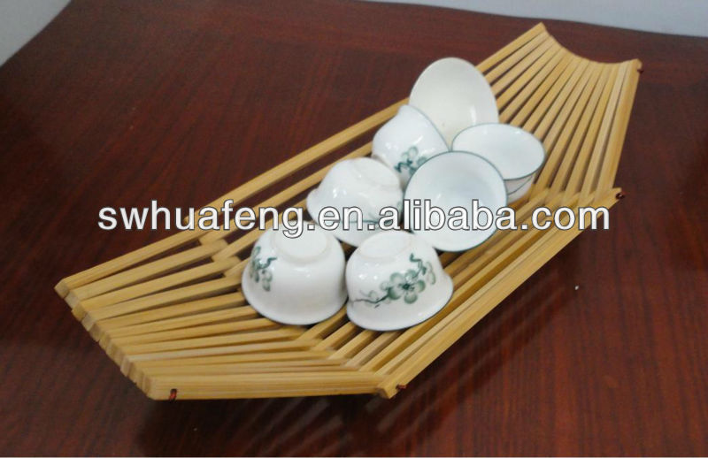 Fancy Japan Bamboo Boat Cup Mat