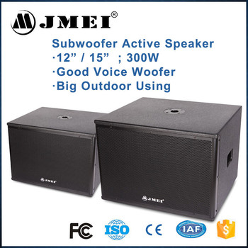 Professional 300w Karaoke Power Sound System Subwoofer Active ...