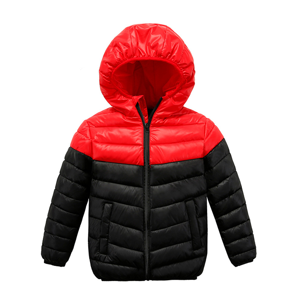 3b1935a6a New Cartoon Kids Coat Boys Girls Thick Coat Padded Color Patchwok Winter  Jacket Clothes Drop Shipping Overcoats For Girls Childrens Parka Coats From  ...