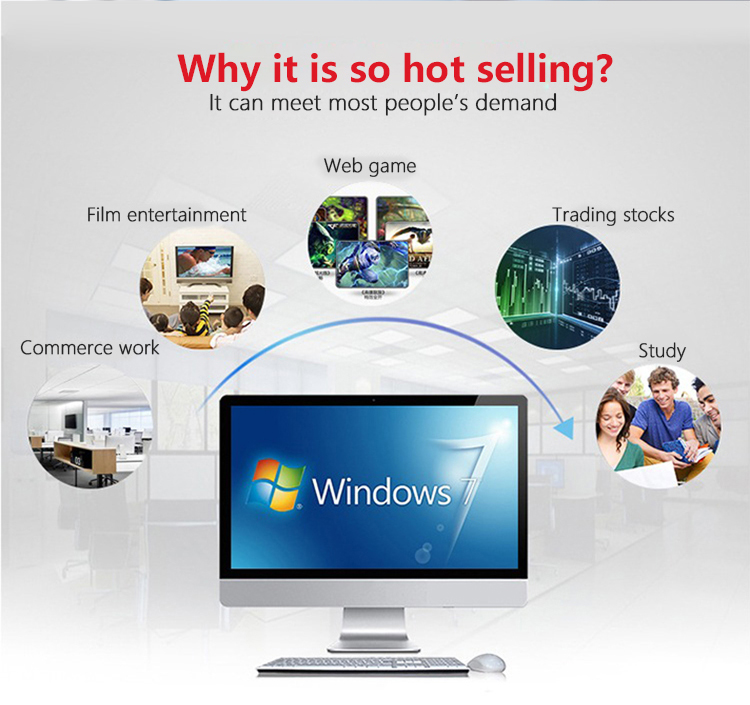 High quality desktop i3 i5 i7 21.5 inch  all in one pc computer