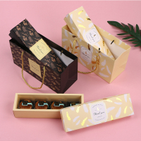 custom printed roll cake box food packaging box and bag for dessert pastry
