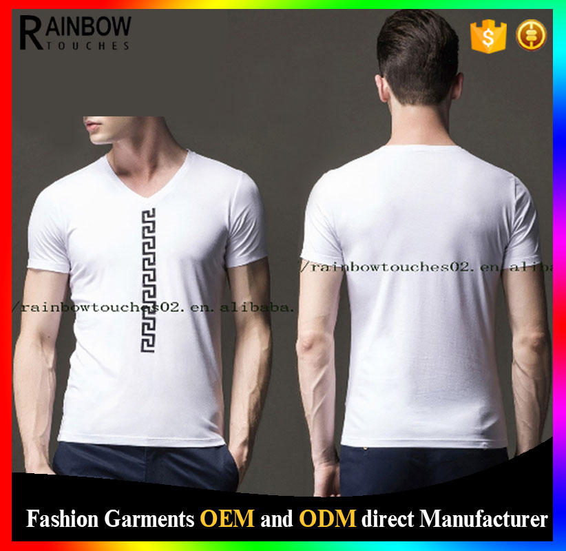 3d 100% cotton printed vintage new white t shirt