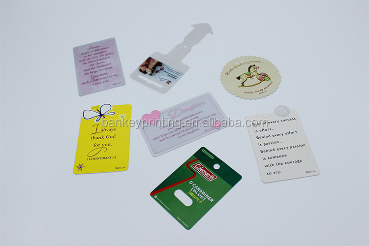 Factory Direct Sale Plastic Hang Tag Paper Hang Tag Gift Card