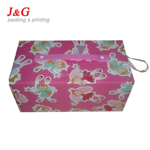 POS hot sell paper display box. fleece blanket display box