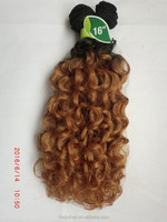 Fashionable ombre color Peruvian hair mastermix synthetic fiber curly wave hair extension