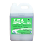 Furnace oil cleaning fluid for removing grease and carbon scale from cooking utensils such as stoves and lampblack exhausters