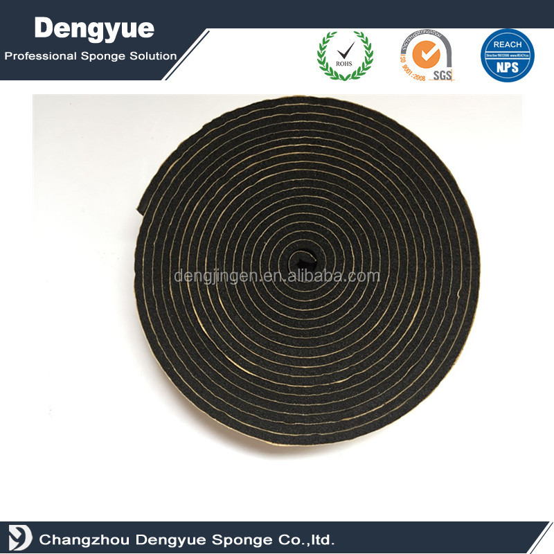 Sound deaddening seal tape Sponge Neoprene Stripping With Adhesive