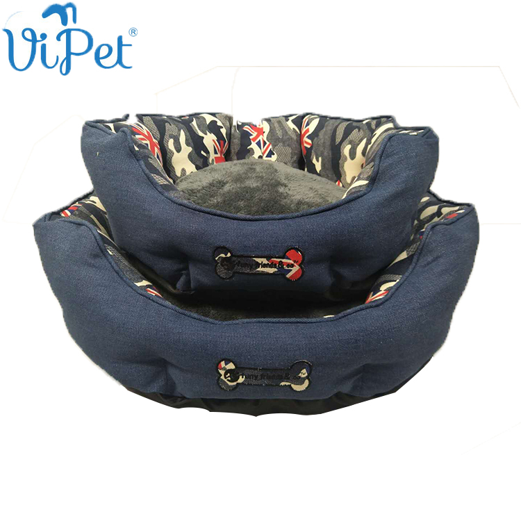 Cowboy Cloth Breathable Fabric Luxury Dog Pet Bed