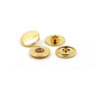 Eco Friendly Wholesale Golden Color 17mm Zinc Alloy Made Ring Spring Press Fastener Snap Button for Sale