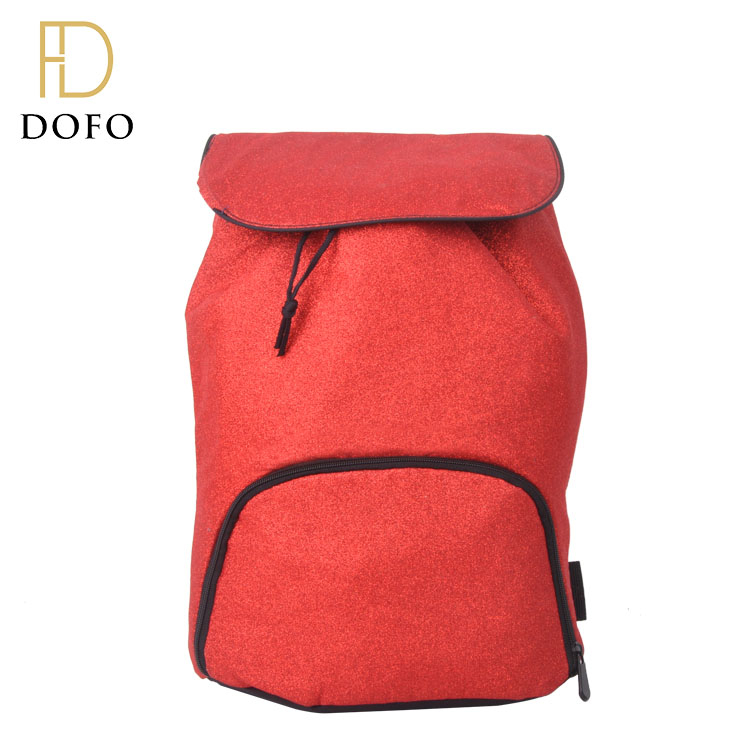Hot sale red drawstring large capacity easy carry camping outdoor sport travel backpack