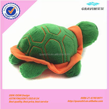 Green shell plush turtle toy and sea animal