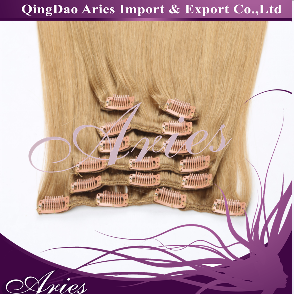 "Clip in Human Hair Extensions 70-200g Brazilian Human Hair Clip In Extensions 16-28"" Full Head"
