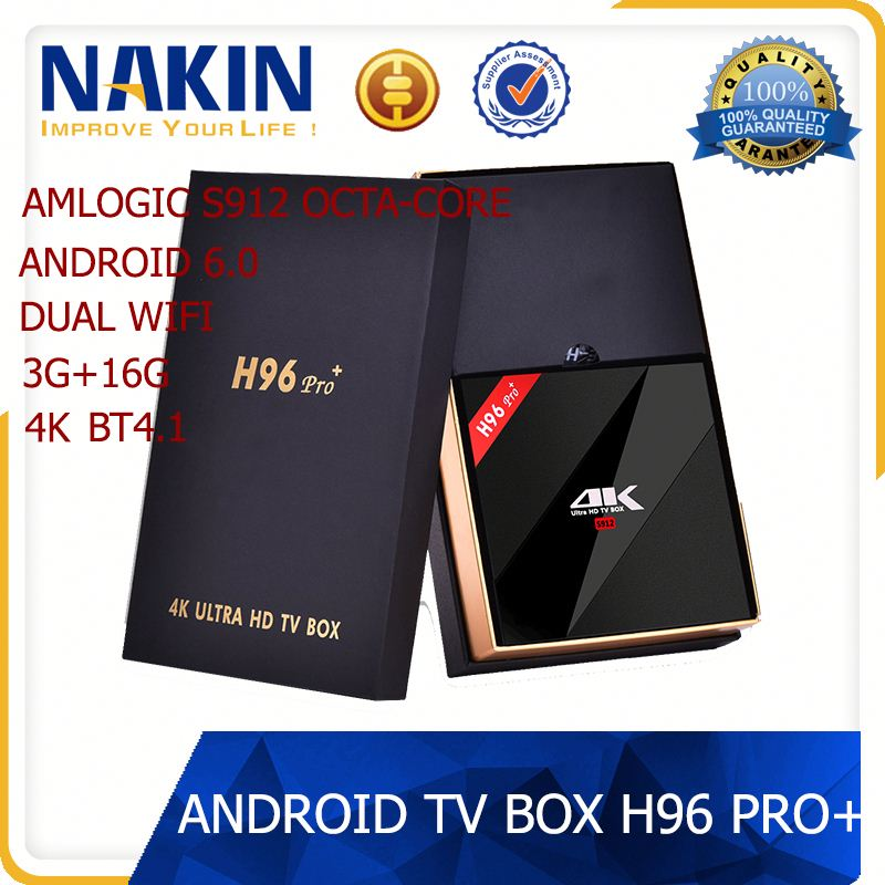 Online Free Live Tv Channels 4K 2K Full HD 3GB Ram 32GB Rom Android 6.0 Tv Box H96 Pro Plus